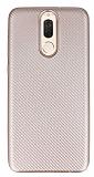 Eiroo Carbon Thin Huawei Mate 10 Lite Ultra İnce Rose Gold Silikon Kılıf