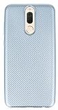 Eiroo Carbon Thin Huawei Mate 10 Lite Ultra İnce Silver Silikon Kılıf