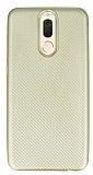 Eiroo Carbon Thin Huawei Mate 10 Lite Ultra İnce Gold Silikon Kılıf