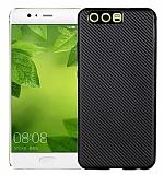 Eiroo Carbon Thin Huawei P10 Plus Ultra İnce Siyah Silikon Kılıf