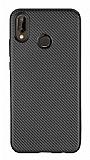 Eiroo Carbon Thin Huawei P20 Lite Ultra İnce Siyah Silikon Kılıf