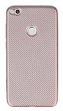Eiroo Carbon Thin Huawei P9 Lite 2017 Ultra İnce Rose Gold Silikon Kılıf