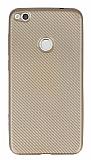 Eiroo Carbon Thin Huawei P9 Lite 2017 Ultra İnce Gold Silikon Kılıf