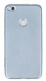 Eiroo Carbon Thin Huawei P9 Lite 2017 Ultra İnce Silver Silikon Kılıf