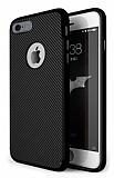 Eiroo Carbon Thin iPhone 6 Plus / 6S Plus Ultra İnce Siyah Silikon Kılıf