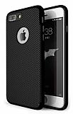 Eiroo Carbon Thin iPhone 7 Plus Ultra İnce Siyah Silikon Kılıf