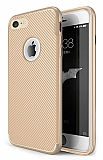 Eiroo Carbon Thin iPhone 7 / 8 Ultra İnce Gold Silikon Kılıf