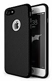 Eiroo Carbon Thin iPhone 7 Ultra İnce Siyah Silikon Kılıf