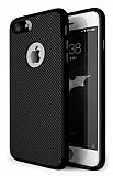 Eiroo Carbon Thin iPhone SE / 5 / 5S Ultra İnce Siyah Silikon Kılıf