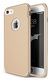 Eiroo Carbon Thin iPhone SE / 5 / 5S Ultra İnce Gold Silikon Kılıf