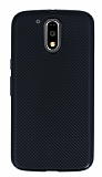 Eiroo Carbon Thin Motorola Moto G4 / G4 Plus Ultra İnce Siyah Silikon Kılıf