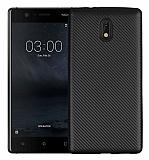 Eiroo Carbon Thin Nokia 3 Ultra İnce Siyah Silikon Kılıf