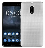 Eiroo Carbon Thin Nokia 5 Ultra İnce Silver Silikon Kılıf
