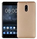 Eiroo Carbon Thin Nokia 5 Ultra İnce Gold Silikon Kılıf