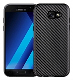 Eiroo Carbon Thin Samsung Galaxy A3 2017 Ultra İnce Siyah Silikon Kılıf