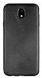 Eiroo Carbon Thin Samsung Galaxy J7 Pro 2017 Ultra İnce Siyah Silikon Kılıf