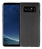 Eiroo Carbon Thin Samsung Galaxy Note 8 Ultra İnce Siyah Silikon Kılıf
