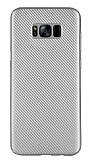 Eiroo Carbon Thin Samsung Galaxy S8 Plus Ultra İnce Silver Silikon Kılıf