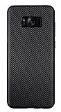 Eiroo Carbon Thin Samsung Galaxy S8 Plus Ultra İnce Siyah Silikon Kılıf