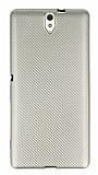 Eiroo Carbon Thin Sony Xperia C5 Ultra Süper İnce Gold Silikon Kılıf