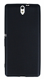 Eiroo Carbon Thin Sony Xperia C5 Ultra Süper İnce Siyah Silikon Kılıf