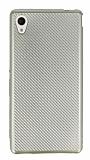 Eiroo Carbon Thin Sony Xperia M4 Aqua Ultra İnce Gold Silikon Kılıf