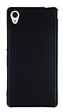 Eiroo Carbon Thin Sony Xperia M4 Aqua Ultra İnce Siyah Silikon Kılıf
