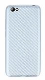 Eiroo Carbon Thin Vestel Venus E3 Ultra İnce Silver Silikon Kılıf
