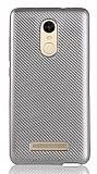 Eiroo Carbon Thin Xiaomi Redmi Note 3 Ultra İnce Silver Silikon Kılıf