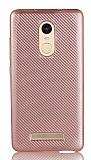 Eiroo Carbon Thin Xiaomi Redmi Note 3 Ultra İnce Rose Gold Silikon Kılıf