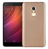 Eiroo Carbon Thin Xiaomi Redmi Note 4 / Redmi Note 4X Ultra İnce Gold Silikon Kılıf