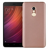 Eiroo Carbon Thin Xiaomi Redmi Note 4 / Redmi Note 4X Ultra İnce Rose Gold Silikon Kılıf