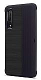 Eiroo Card Slot Huawei P30 Ultra Koruma Siyah Kılıf