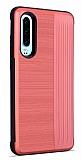 Eiroo Card Slot Huawei P30 Ultra Koruma Kırmızı Kılıf
