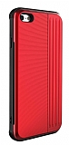 Eiroo Card Slot iPhone 6 / 6S Ultra Koruma Kırmızı Kılıf