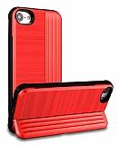 Eiroo Card Slot iPhone 7 / 8 Ultra Koruma Kırmızı Kılıf