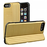 Eiroo Card Slot iPhone 7 Plus / 8 Plus Ultra Koruma Gold Kılıf