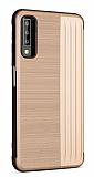 Eiroo Card Slot Samsung Galaxy A7 2018 Ultra Koruma Gold Kılıf