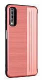 Eiroo Card Slot Samsung Galaxy A7 2018 Ultra Koruma Kırmızı Kılıf