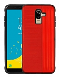 Eiroo Card Slot Samsung Galaxy J8 Ultra Koruma Kırmızı Kılıf
