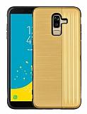 Eiroo Card Slot Samsung Galaxy J8 Ultra Koruma Gold Kılıf