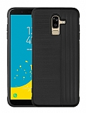 Eiroo Card Slot Samsung Galaxy J8 Ultra Koruma Siyah Kılıf