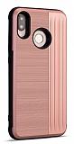 Eiroo Card Slot Samsung Galaxy M20 Ultra Koruma Rose Gold Kılıf