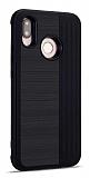 Eiroo Card Slot Samsung Galaxy M20 Ultra Koruma Siyah Kılıf