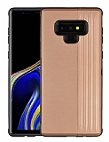 Eiroo Card Slot Samsung Galaxy Note 9 Ultra Koruma Rose Gold Kılıf