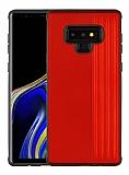 Eiroo Card Slot Samsung Galaxy Note 9 Ultra Koruma Kırmızı Kılıf