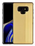 Eiroo Card Slot Samsung Galaxy Note 9 Ultra Koruma Gold Kılıf