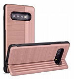 Eiroo Card Slot Samsung Galaxy S10 Plus Ultra Koruma Rose Gold Kılıf