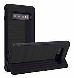 Eiroo Card Slot Samsung Galaxy S10 Ultra Koruma Siyah Kılıf