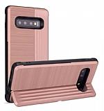 Eiroo Card Slot Samsung Galaxy S10 Ultra Koruma Rose Gold Kılıf